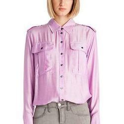 "J Brand: Monae Shirt, $345. Available <a href=""http://www.jbrandjeans.com/Monae_Shirt_in_Amethyst/pd/cl/3399/np/1110/p/2404.html"">here</a>."