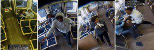 Surveillance images of the suspects in a beating and attempted robbery on a CTA Blue Line train. | Chicago Police
