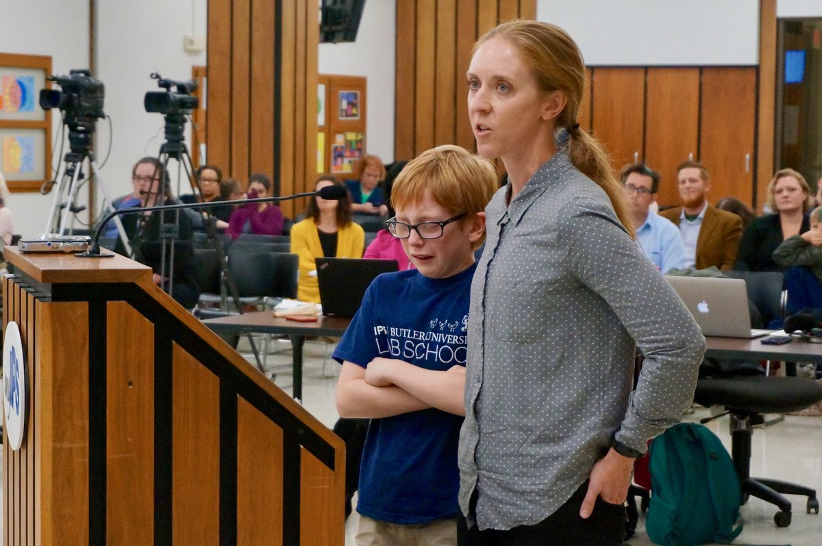 Nicole Goodson and her son Spencer, a fifth grader at School 60.