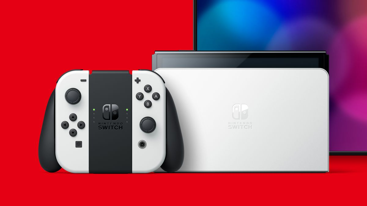 Il nuovo modello di Nintendo Switch OLED ha un dock aggiornato con ethernet.