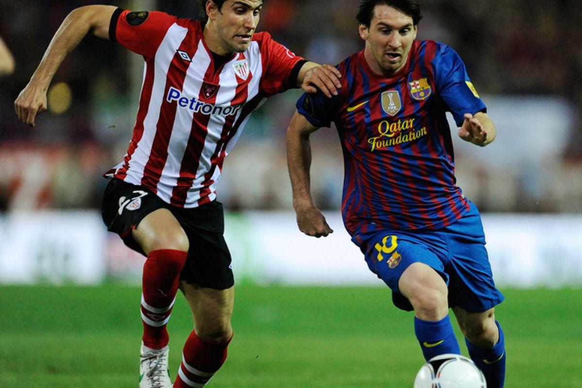 Messi is in international action tonight against Ecuador