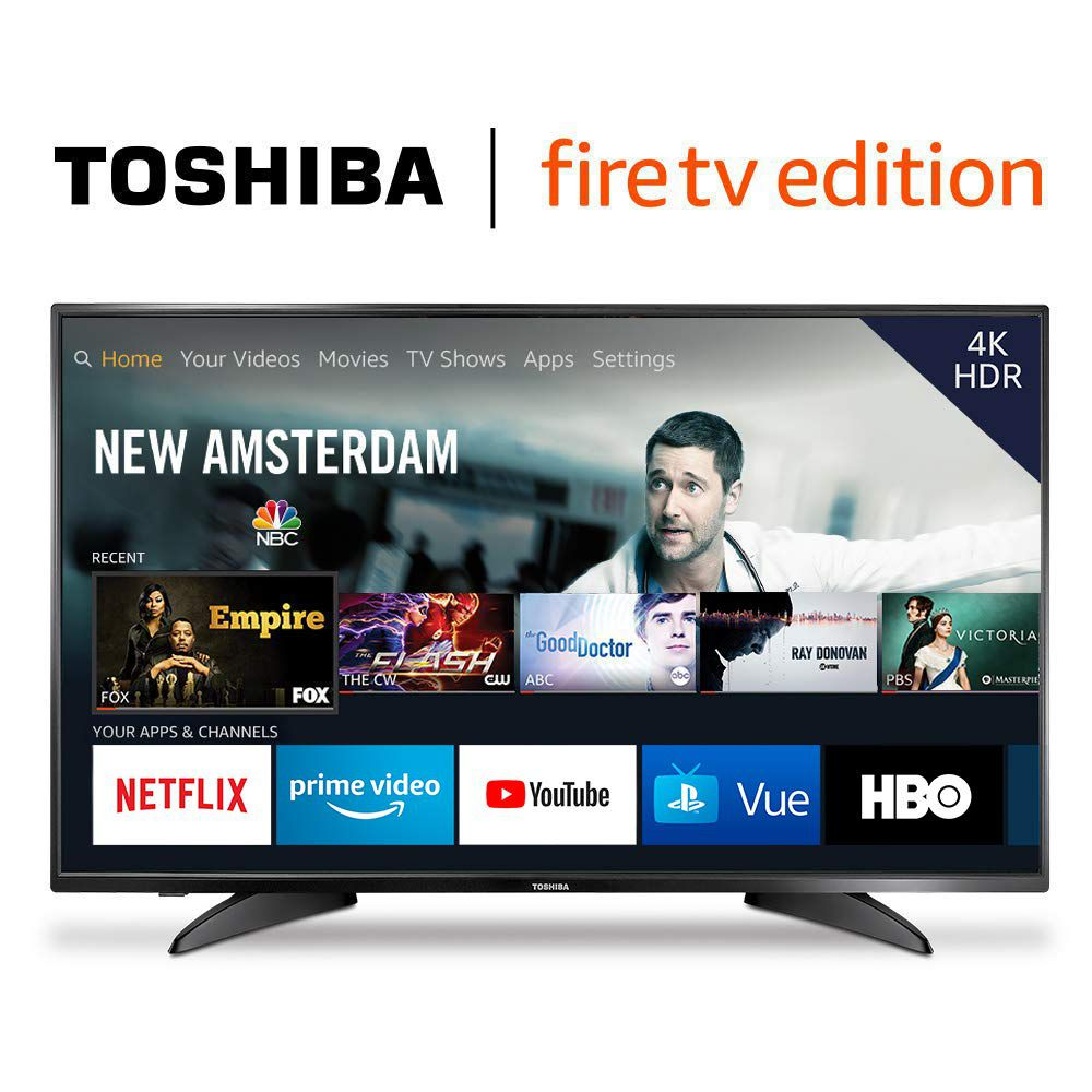 A product shot of Toshiba's 4K TV - Fire TV Edition