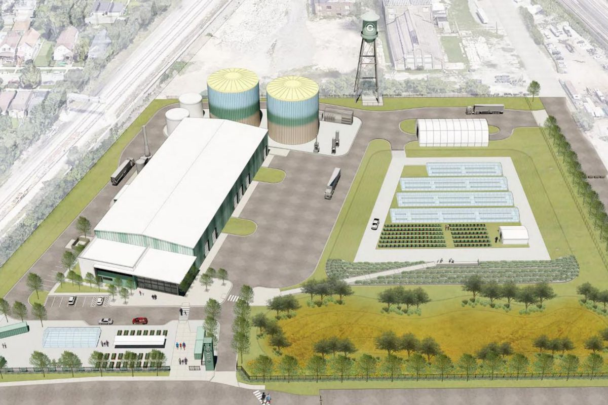 Rendering of the $32 million Green Era Renewable Energy and Urban Farming Campus being built in Auburn Gresham with an expected completion date in 2022.
