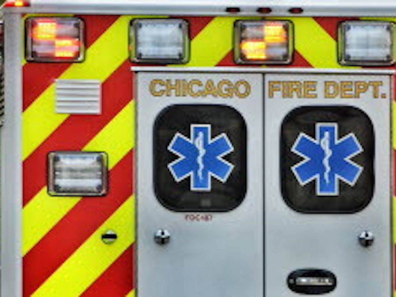 Six Chicago police officers were injured in a crash Feb. 15, 2020 in Garfield Park.