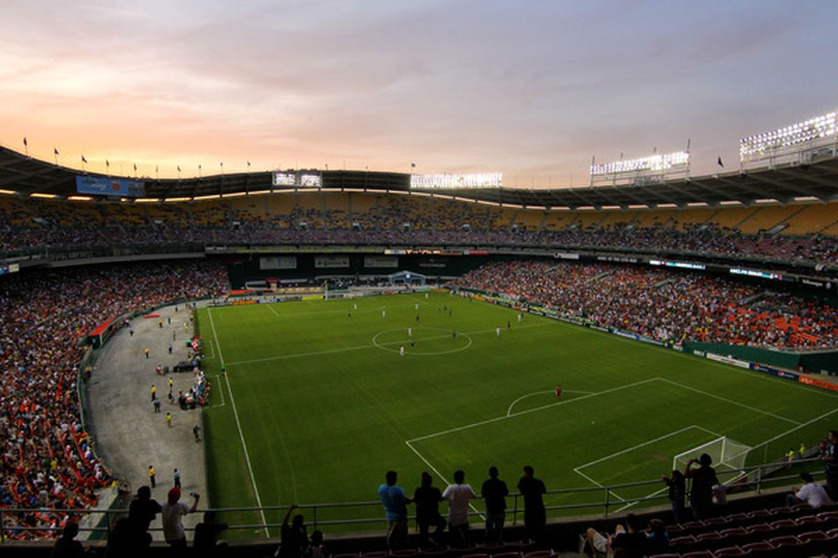 WASHINGTON - MAY 26: A general view during the game between D.C. United and A.C. Milan at RFK Stadium on May 26, 2010 in Washington, DC. (Photo by Ned Dishman/Getty Images)