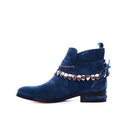 """<strong>Freda Salvador</strong> Star in Denim Suede, <a href=""""http://www.fredasalvador.com/collections/p-f-2014/products/star-denim-suede"""">$595</a>"""