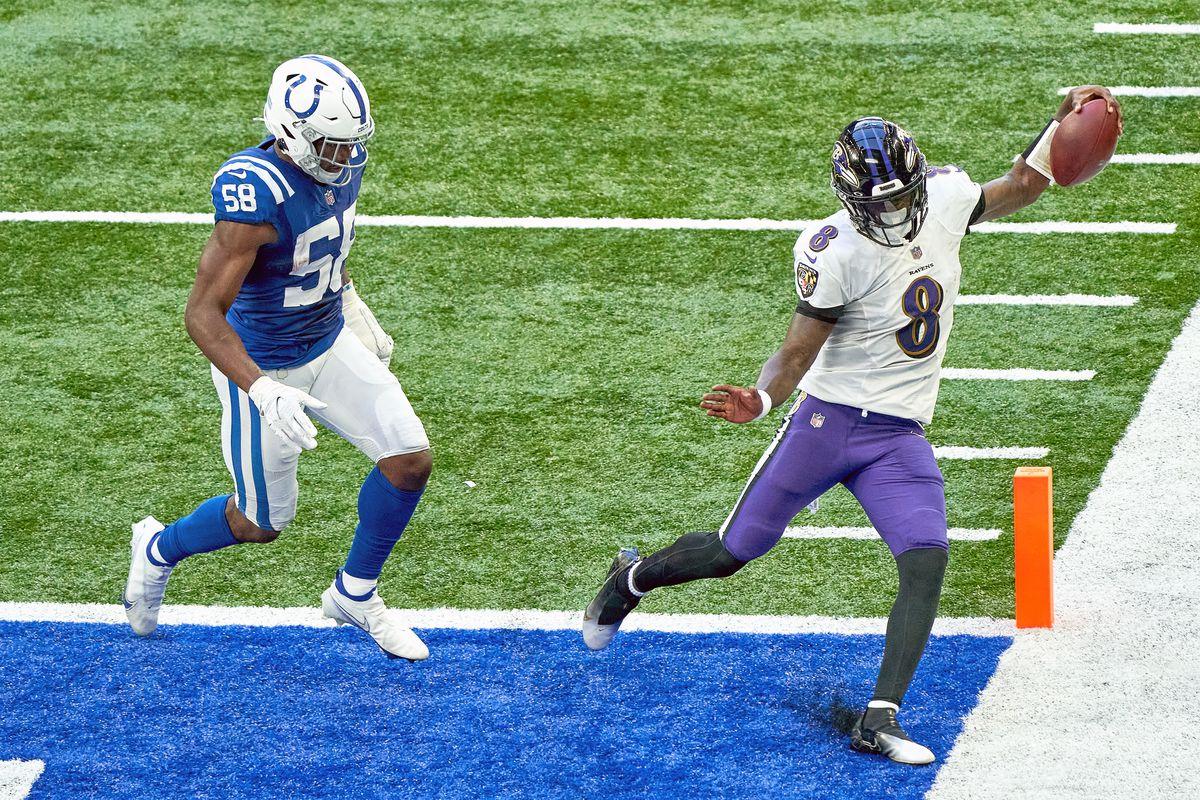 NFL: NOV 08 Ravens at Colts