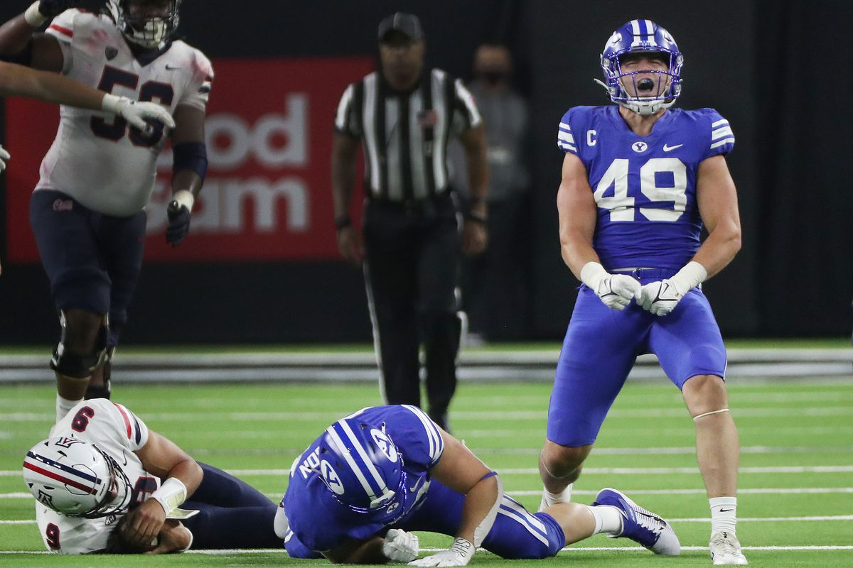 BYU's defense came up with four sacks against Arizona in a 24-16 win on Sept. 4, 2021, but missed tackles are a concern.