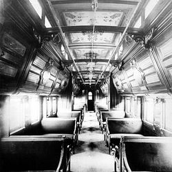 Interior of the Pullman sleeping car. | Sun-Times Archives