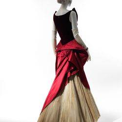 A ball gown from 1949-50.