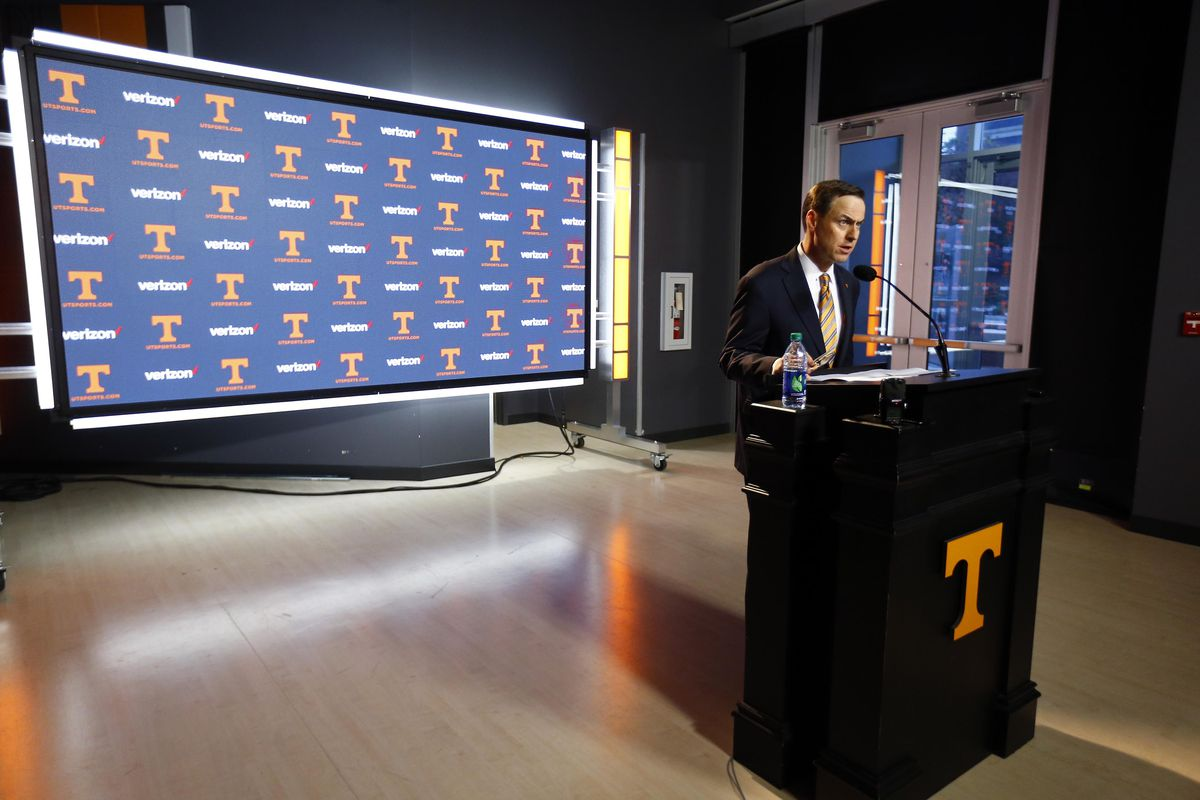 NCAA Football: Tennessee Press Conference