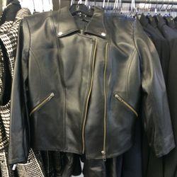 Leather jacket, size 12, $449 (was $1,145)
