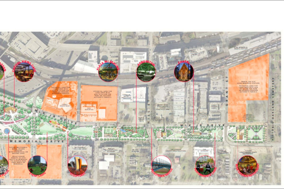 Friends of Memorial Drive Greenway and Park Pride gathered public input forthe finalized concept plan above.