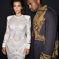 Doubling up on embroidered Balmain at the brand's spring 2015 show.