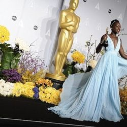 """""""<strong>Lupita Nyong'o</strong> always gets it right. She always has these silhouettes that are fresh, modern, and clean. This Prada look was perfect in that it has this easiness and flow in it that felt sophisticated yet carefree. It really captured her"""