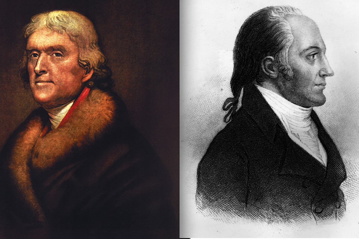 Thomas Jefferson and Aaron Burr, circa 1800.