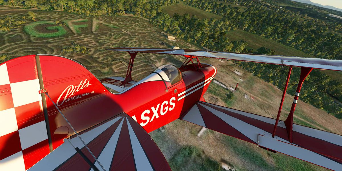 Image of article 'It's fall, so let's fly over corn mazes in Microsoft Flight Simulator'