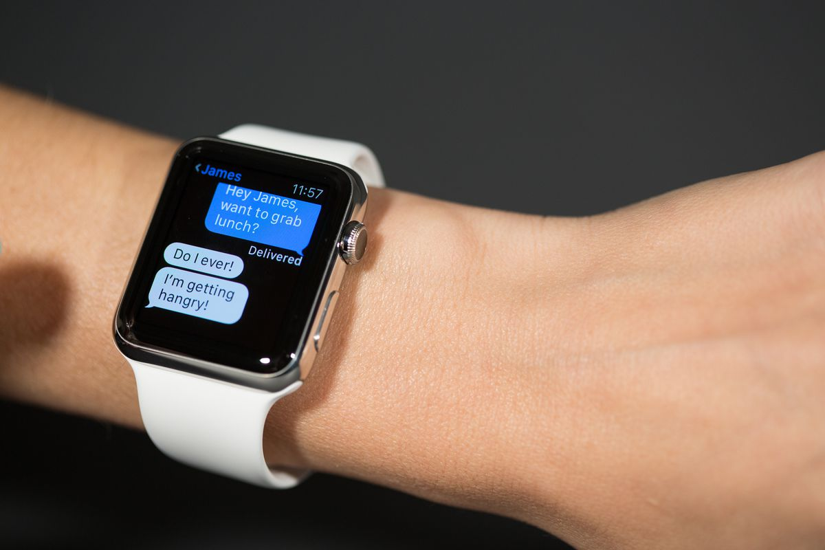You can reply to iMessages on the watch using voice dictation, emojis or shortcut answers.
