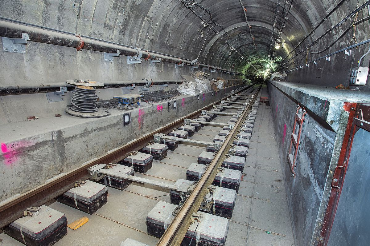 Work on the Second Avenue Subway tunnel at 96th Street
