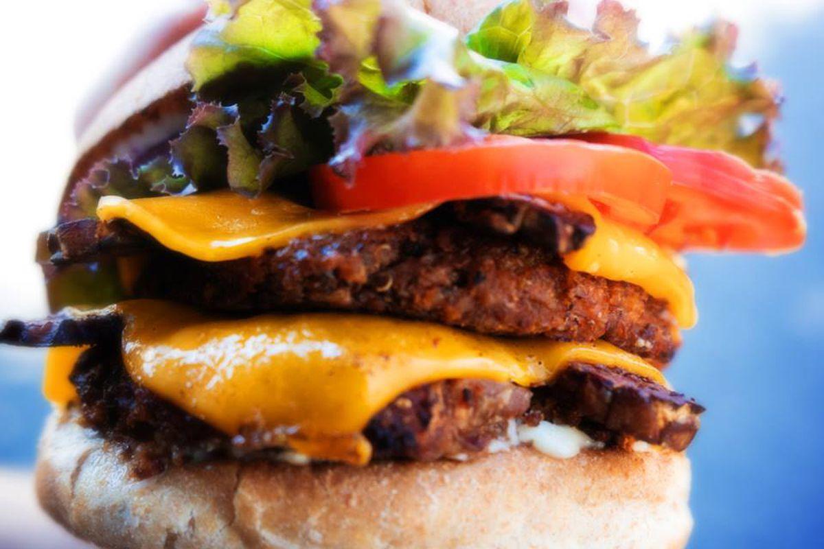 Double bacon cheeseburger from Next Level Burger