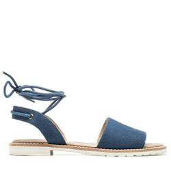 Also available in black and taupe, M4DE's classy take on spring's lace-up sandal trend will be mom's new go-to shoe.