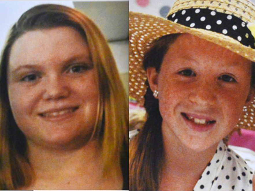Liberty German, 14, (left) and Abigail Williams, 13 were killed near Delphi, Indiana in February 2017.   Associated Press