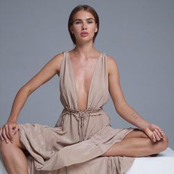 This floaty silk dress will also feel like you're nearly nude.