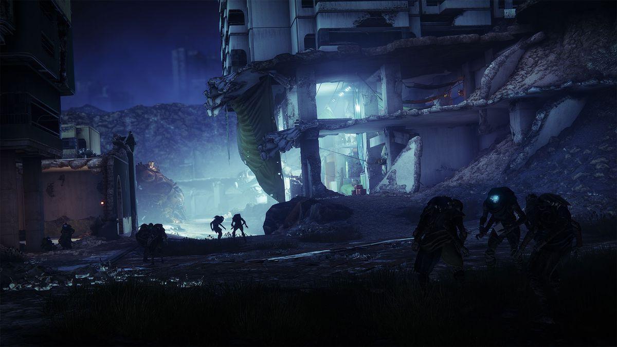 A Fallen refugee camp in Destiny 2