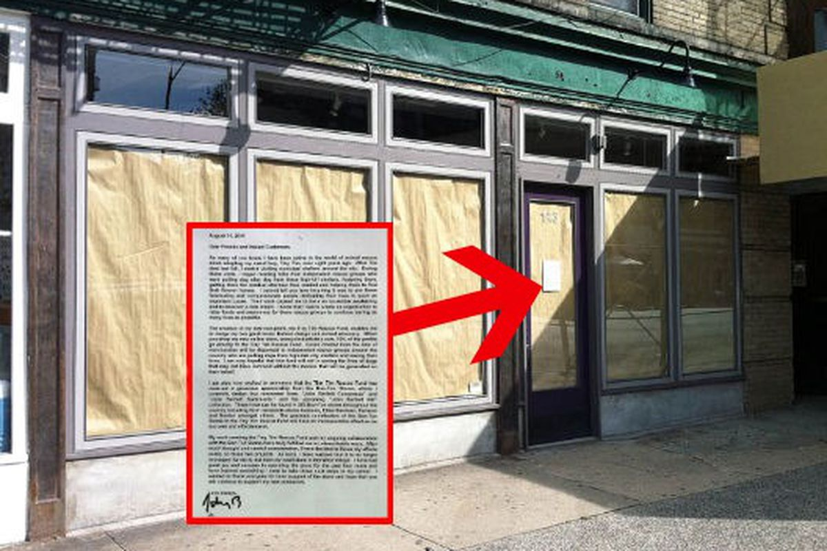 """Storefront and letter image via <a href=""""http://theshophound.typepad.com/the_shophound/2011/08/closing-notices-john-bartlett-departs.html"""">The Shophound</a>"""