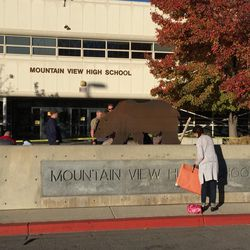 Mountain View High School in Orem is on lockdown after reports of a stabbing at the school, Orem Police confirmed via Twitter.