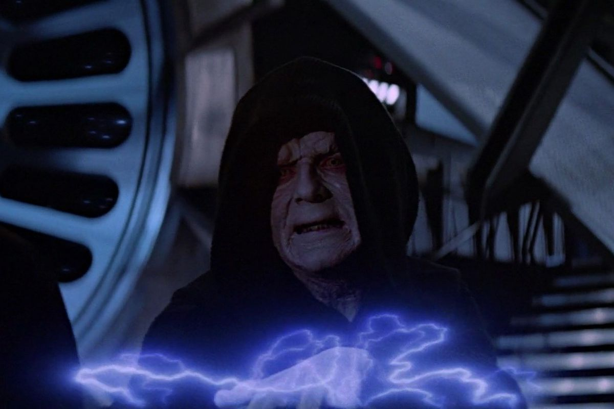 Image result for palpatine lightning