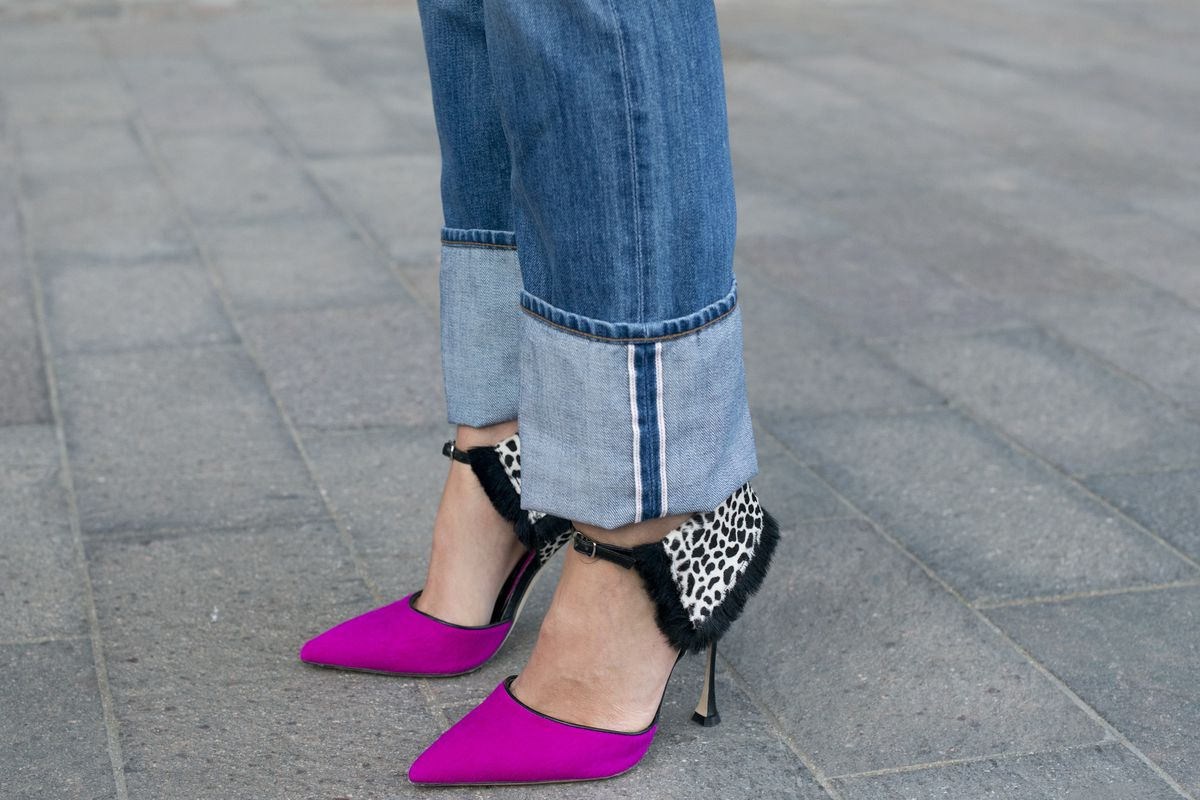 Manolo Blahnik shoes spotted during London Fashion Week
