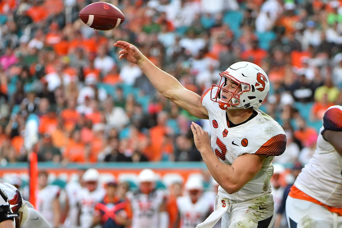 How Syracuse Football Could Finish 5 7 In 2018 Troy Nunes Is An
