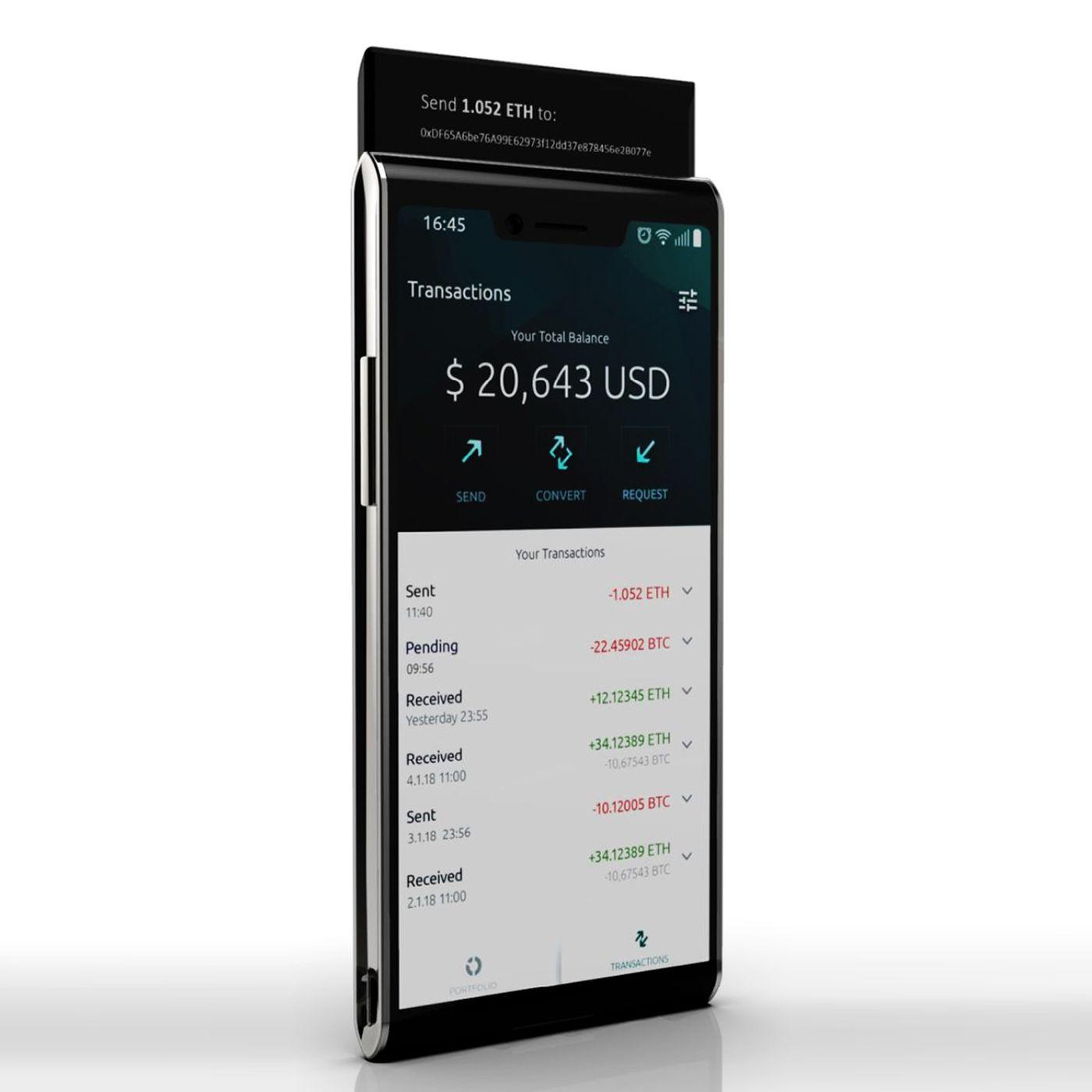 1b72909a22a the finney is a dual-screen blockchain phone endorsedlionel