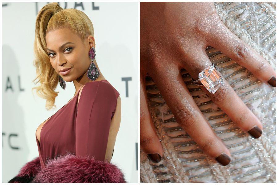 Thanks To Its Jaw Dropping 18 Carats The Emerald Cut Lorraine Schwartz Ring Jay Z Gave Beyonce In 2008 Has An Estimated Value Of Roughly 5 Million