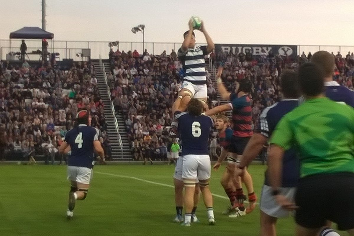BYU wins a line out against Saint Mary's