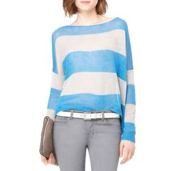 "<b>Theyskens' Theory</b> Emogen Linen Sweater, <a href=""http://www.theory.com/linen-sweater/883591688686,default,pd.html?start=13&cgid=womens-sweaters-knits"">$108</a>"