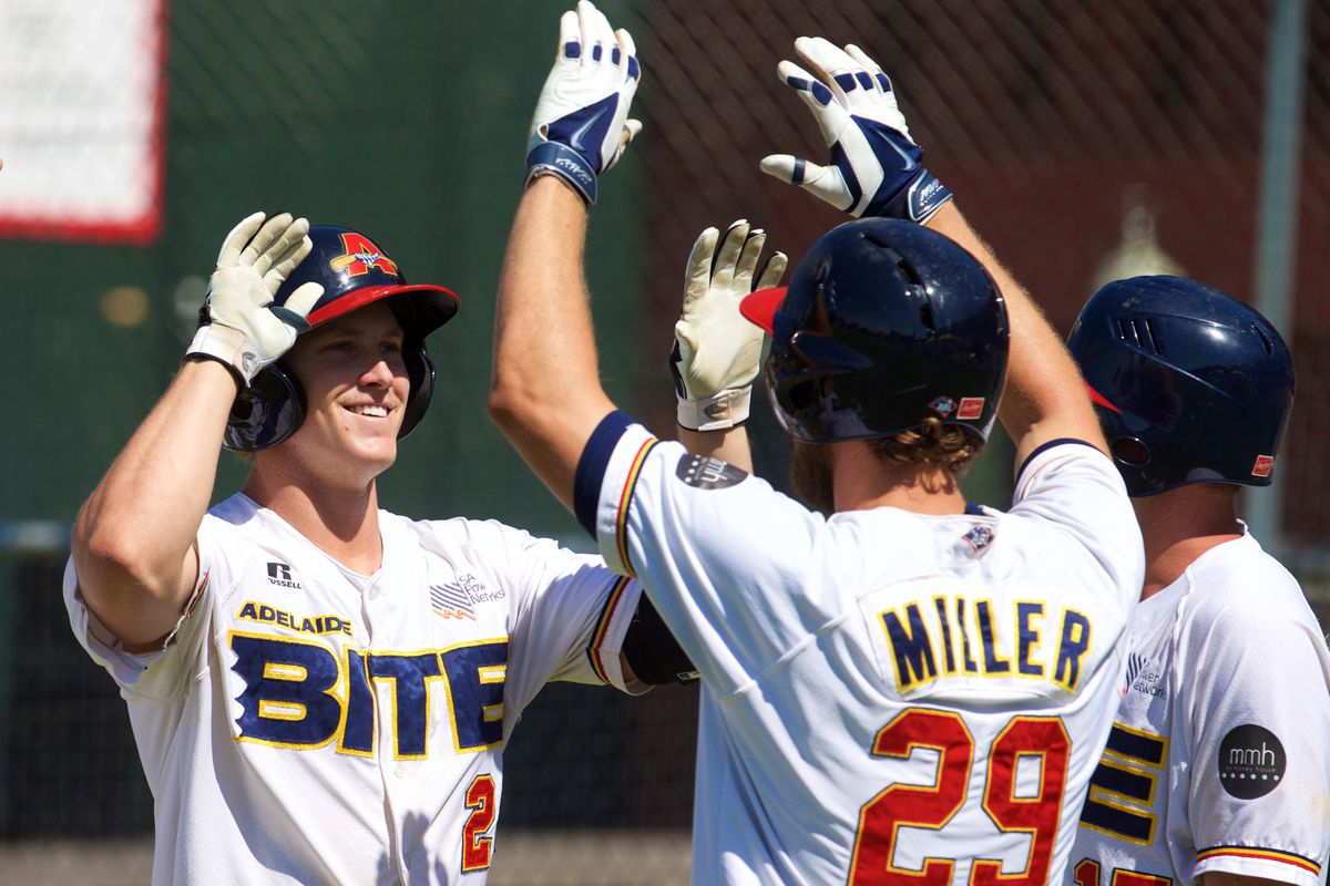 Dodgers minor leaguers Brandon Dixon and Aaron Miller led the Adelaide Bite offense this winter.