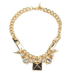 Fallon ID Bar Cluster Necklace, $98