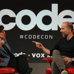 """Uber CEO Dara Khosrowshahi discussed Waymo self-driving cars, Uber eats, and the company's goal to become """"the Amazon of transportation"""" with Kara Swisher. Watch the full video <a href=""""https://www.recode.net/2018/5/31/17397188/full-transcript-spotify-daniel-ek-code-2018"""">here</a>."""