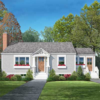 Photoshop Redo Perking Up A Plain Cape Cod This Old House