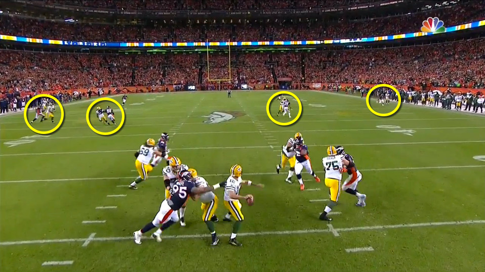 Denver's defense leaves no one open for Aaron Rodgers