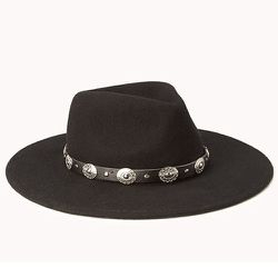 """<b>Forever 21</b> Out West Fedora, <a href=""""http://www.forever21.com/Product/Product.aspx?BR=f21&Category=acc_hat&ProductID=2000127818&VariantID="""">$20.80</a>"""