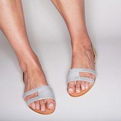 Double metallic sandal, $228.