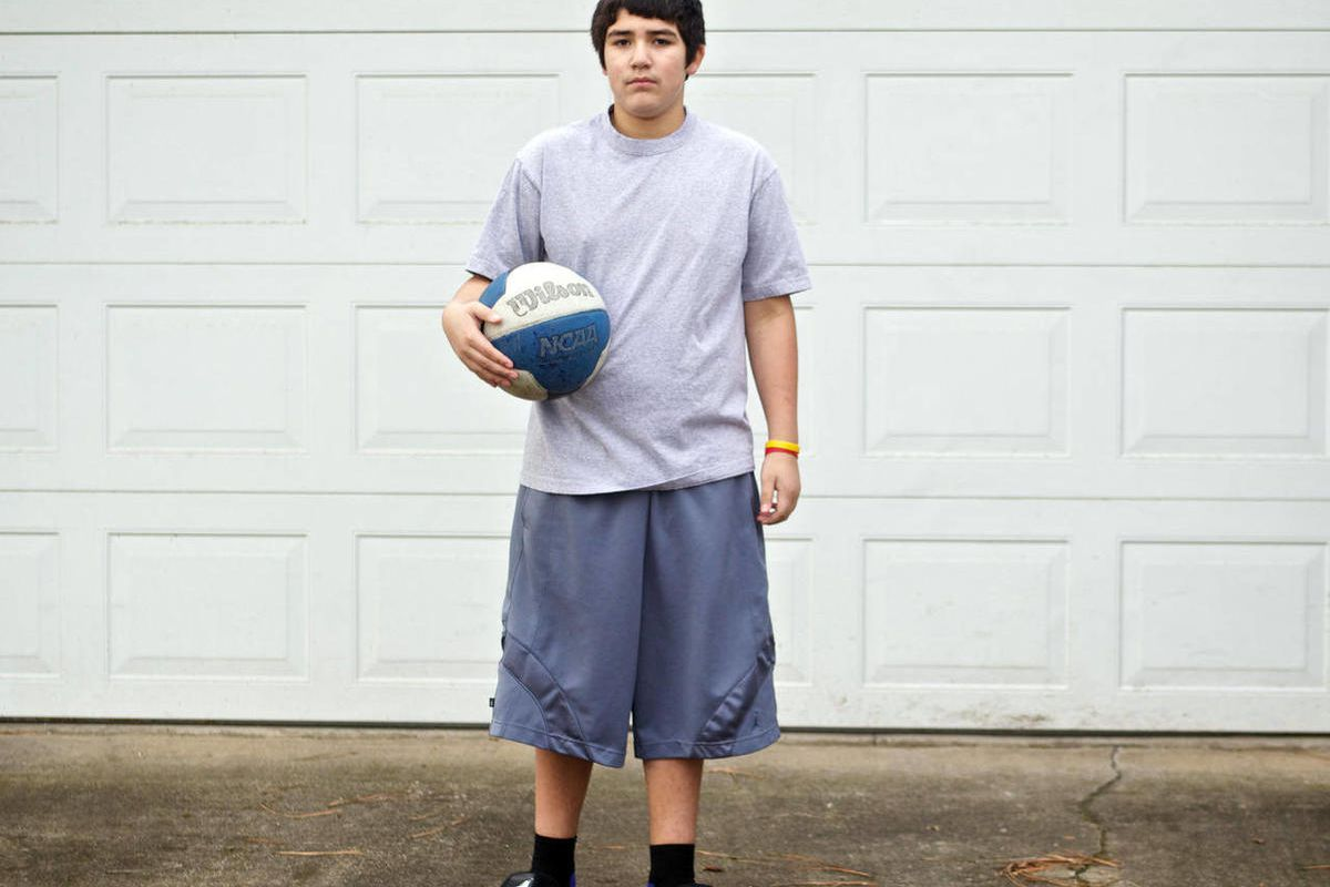 This Jan. 26, 2012, photo shows Isaac Arzate, 12, in Salem, Ore. Arzate, who survived a heart attack during basketball practice three months ago, has died after collapsing at baseball practice. Marion County Deputy Medical Examiner Rodge Womack confirmed