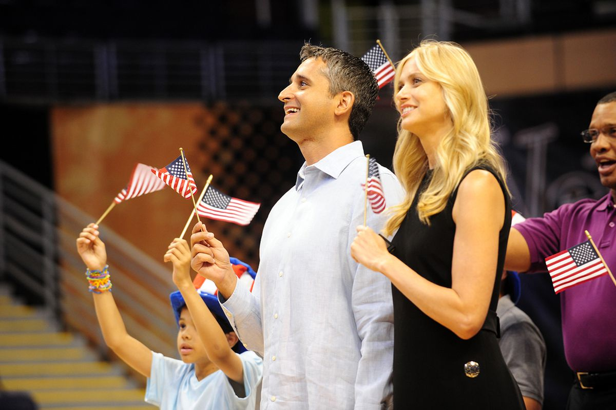 Igor Kokoskov and his wife during his citizenship ceremony. (Photo by Barry Gossage)