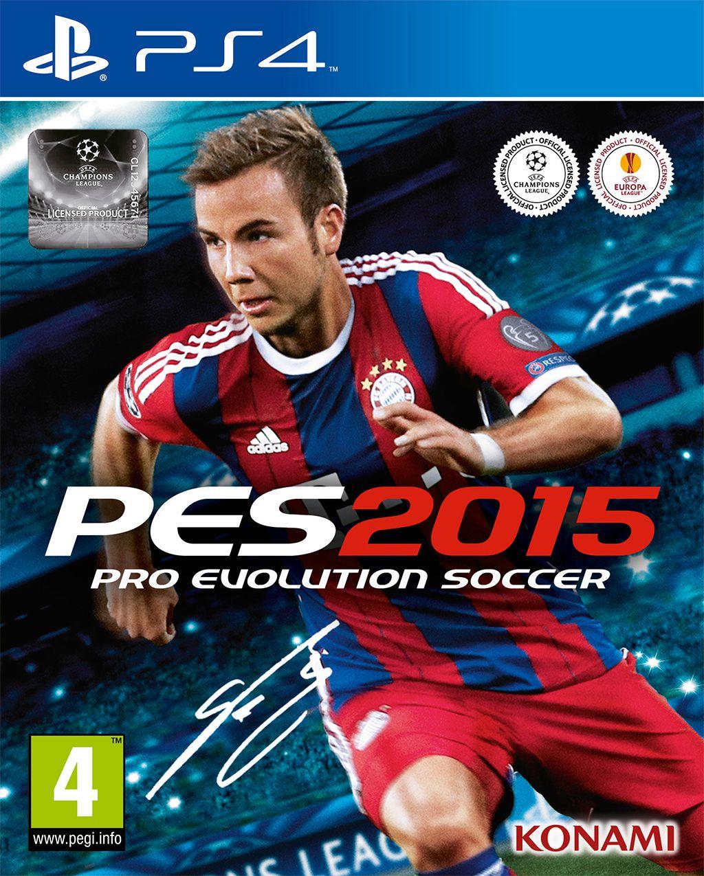 Pro Evolution Soccer 2015 PS4 box art 1024