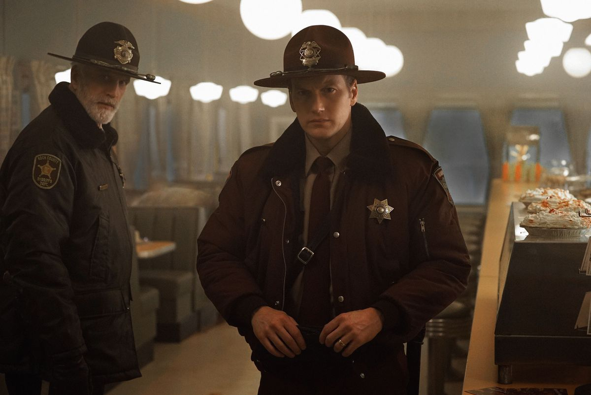 Hank and Lou in Fargo