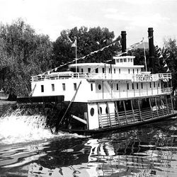 The River Queen sailed the waters of Liberty Park's pond in the 1950s.