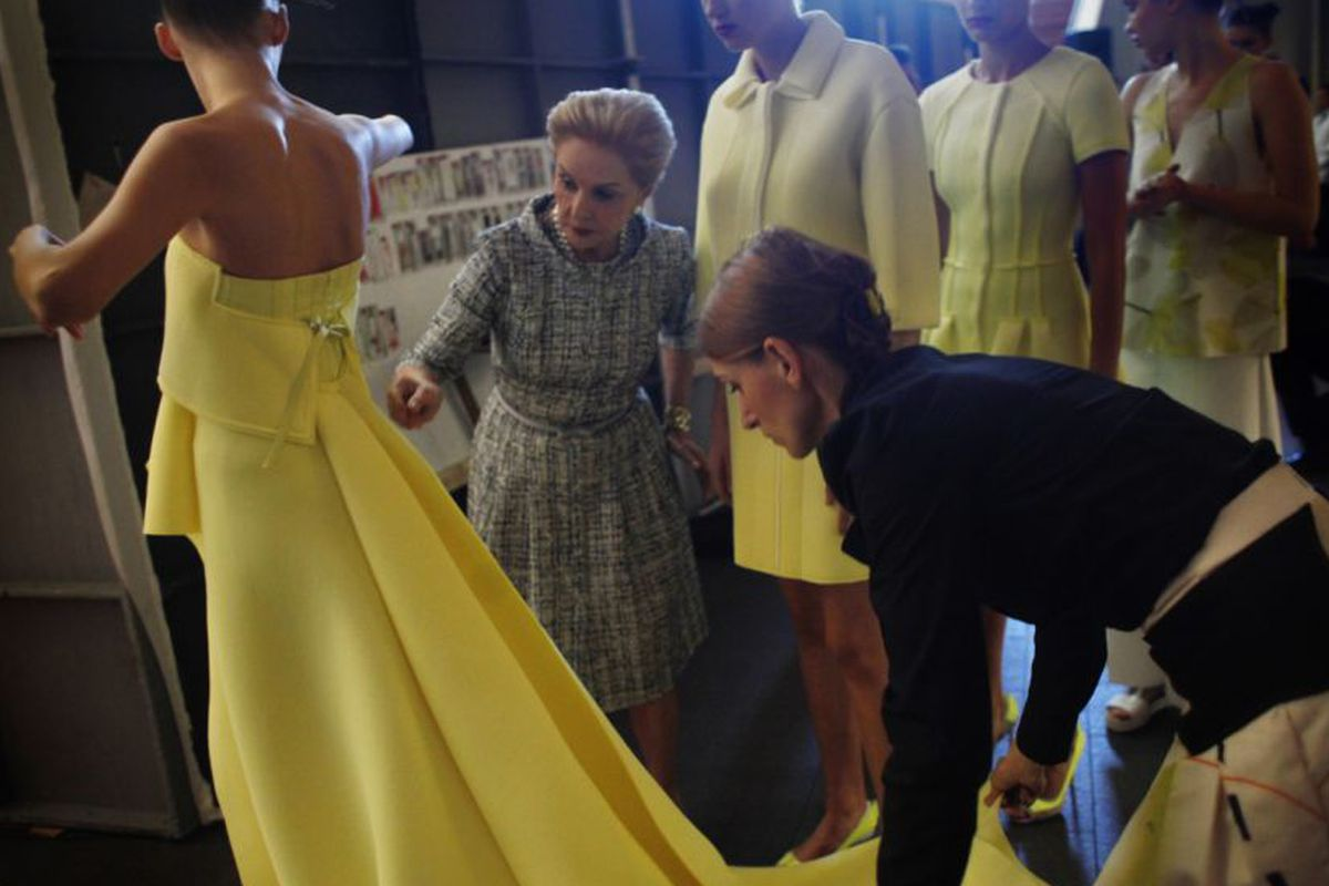 """Photo: Lea Suzuki for <a href=""""http://www.sfgate.com/style/article/Behind-the-scenes-Carolina-Herrera-brings-spring-5891862.php"""">The Chronicle</a>"""